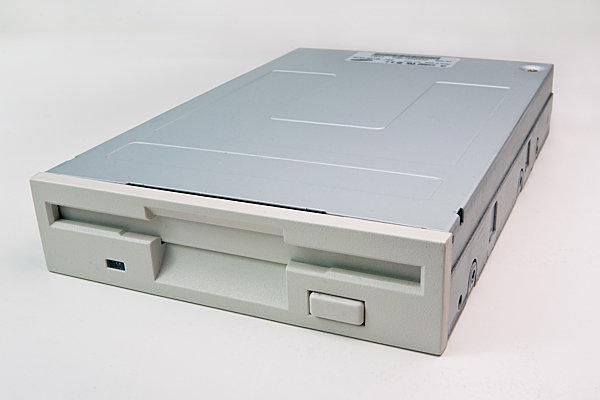 Floppy drive for a desktop computer