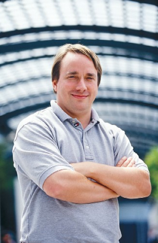 Picture of Linus Torvalds in 2002